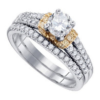 1.21CTW DIAMOND 0.50CTW-CRD BRIDAL SET
