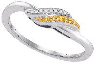 0.05CTW YELLOW DIAMOND FASHION RING