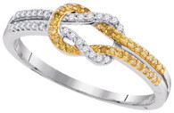 0.18CTW YELLOW DIAMOND MICRO-PAVE RING