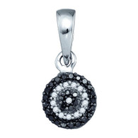0.12CTW BLACK DIAMOND FASHIPN PENDANT