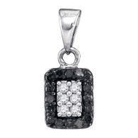 0.20CTW BLACK DIAMOND MICRO-PAVE PENDANT