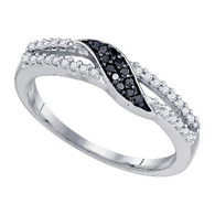 0.19CT BLACK DIAMOND FASHION RING