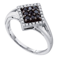 0.25CT BLACK DIAMOND FASHION RING