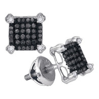 0.25CTW BLACK DIAMOND MICRO-PAVE EARRING
