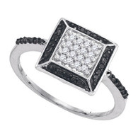 0.26CTW BLACK DIAMOND MICRO-PAVE RING
