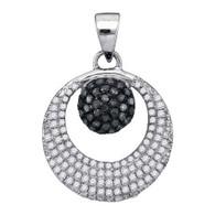 0.40CTW BLACK DIAMOND MICRO-PAVE PENDANT