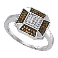 0.20CTW  COGNAC DIAMOND FASHION RING