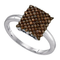 0.50CTW COGNAC DIAMOND FASHION RING