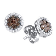 0.25CTW COGNAC DIAMOND FASHION EARRINGS
