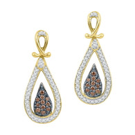 0.25CTW COGNAC DIAMOND FASHION EARRING