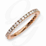 Sterling Silver Rose Gold-plated 28 Stone CZ Ring