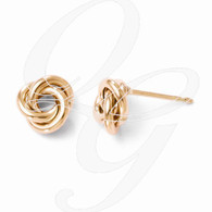 Leslies 10K Rose Gold Polished Post Earrings