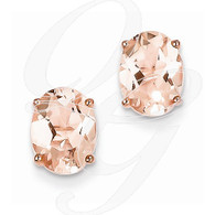 14k Rose Gold Morganite Earring