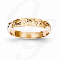 14k Rose Gold Footprints Ring