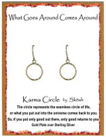 Skosh Children's Hammered Circle Earrings - Gold Plated