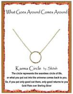 Skosh Children's Small Karma Pendant - Gold Plated