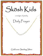Skosh Children's Daily Prayer Pearl Bracelet - Gold Plated