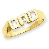 14k A Diamond Men's Ring