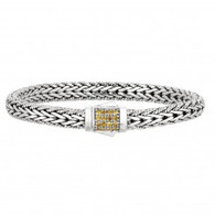 Phillip Gavriel Sterling Silver Bracelet with Yellow Sapphire