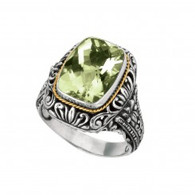 Phillip Gavriel 18k Yellow  Gold And Sterling Silver Ring