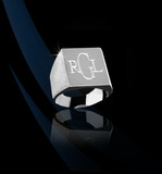 Large Rectangle Men's Ring