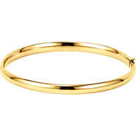 14kt Yellow 4.75mm Hinged Bangle Bracelet