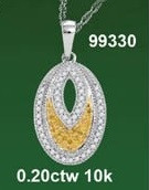 0.20 CTW 10K DIAMOND MICRO-PAVE NECKLACE