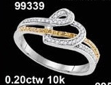 0.20CTW  10K DIAMOND MICRO-PAVE RING