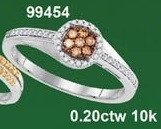0.20CTW 10K MULTI-COLOR DIAMOND MICRO-PAVE RING