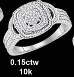 0.15CTW 10K DIAMOND MICRO-PAVE RING