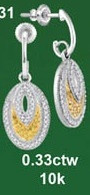 0.33CTW 10K DIAMOND MICRO-PAVE EARRINGS