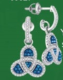 0.50CTW 10K BLUE DIAMOND MICRO-PAVE EARRINGS