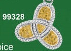 0.40CTW 10K YELLOW DIAMOND MICRO-PAVE PENDANT
