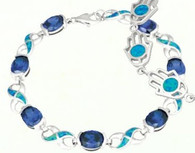 Blue Opal and Tanzanite Bracelet