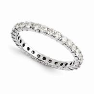 14k Moissanite Eternity Ring