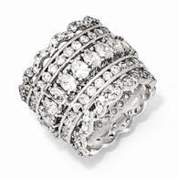 Sterling  Silver  CZ  Eternity  Ring