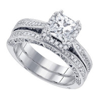 1.71CTW DIAMOND 1.00CTW CENTER PRINCESS BRIDAL RING