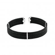 Montreaux Diamond Ends Black Cable Cuff