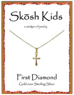 Skosh Children's Cross with Diamonds Necklace