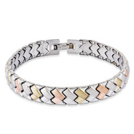 Stainless Steel Rose & Gold-Plated 7.5in Bracelet