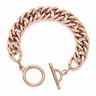 Nikki Lissoni Rose-Tone Toggle Bracelet
