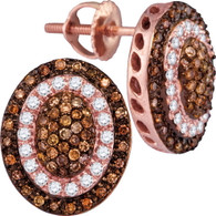 0.52CTW COGNAC DIAMOND FASHION EARRING