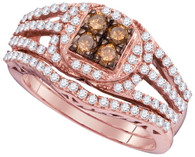 1.00CTW COGNAC DIAMOND FASHION RING