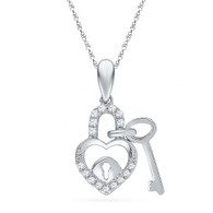 0.10 CTW DIAMOND  FASHION PENDANT