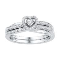 0.25CTW DIAMOND BRIDAL SET