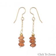 14/20 Gold Filled Sunstone Drop Earrings