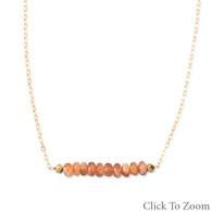 """16"""" + 1.5"""" 14/20 Gold Filled Sunstone Necklace"""