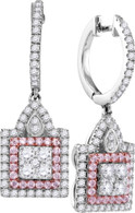 1.38CTW PINK DIAMOND FASHION EARRING