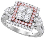 1.10CTW PINK DIAMOND FASHION RING