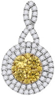 1.00CTW NATURAL YELLOW DIAMOND FASHION PENDANT